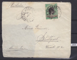 + BRAZIL 1902, SMALL LETTER SENT TO STUTTGART, GERMANY, 16. JUL. 1902 VIA LISBOA, RIO DE JANEIRO, PART OF LETTER MISSING - Brésil