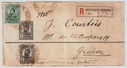 Rumänien, 1910, Wrapper Registeret Abroad!, #4516 - 1881-1918: Charles I