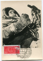 R. D. A. CARTE MAXIMUM DU N°541 PREMIER COSMONAUTE SOVIETIQUE DANS L'ESPACE OBLITERATION BERLIN 9-6-61 - DDR