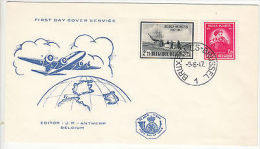 Belgium: Anniversary Of Antarctic Exhibition, FDC, 9 June 1947 - Belgium