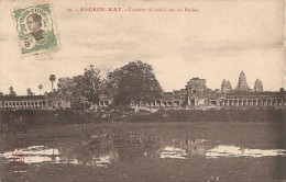 Cambodge  :   ANGKOR - WAT Coucher De Soleil Sur Les Ruines    Réf 315 - Cambodia