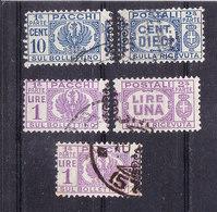 1945 LUOGOTENENZA PACCHI POSTALI Con FREGIO 10 Cent E  1 Lira  USATO - 5. 1944-46 Luogotenenza & Umberto II