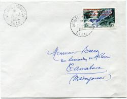 """T. A. A. F. LETTRE MISSION AUX ILES AUSTRALES """"GALLIENI"""" DEPART ARCHIPEL KERGUELEN 19-11-1958 T.A.A.F. POUR MADAGASCAR - Tierras Australes Y Antárticas Francesas (TAAF)"""