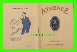 """PROGRAMMES - PROGRAM - LE THÉÂTRE ATHÉNÉE, DIRECTION LUCIEN ROZENBERG, 1919 - PIÈCE """" LA LETTRE"""" 34 PAGES - - Programmes"""