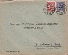 LETTRE 1924. MAINZ POUR STRASBOURG.   / 6638 - Allemagne