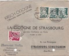 LETTRE 1949. BADEN OFFENBURG POUR STRASBOURG.   / 6641 - Zone Française
