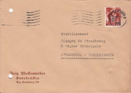 LETTRE 1945. SAAR. Mi 233. SAARBRUCKEN POUR STRASBOURG.   / 6642 - Zone Française