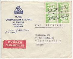 Belgium: Express Cover, Brussels North To Copenhagen, 17-18 January 1963 - Belgium