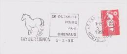 FRANCE. FRAGMENT POSTMARK, HORSE FAIR. FAY SUR LIGNON 1996 - Marcofilia (sobres)