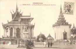 Cambodge  :    PNOM-PENH    La Pagode Royale Et La Statue De  Norodom  Réf 326 - Cambodia