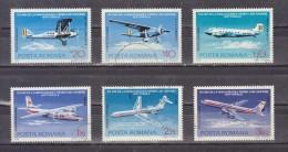 1976 - 50 Anniv. De La Premier Ligne Aerienne Mi No 3343/3348 Et Yv 239/244 - Usado
