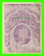"PROGRAMMES - PROGRAM - NEW THEATRE ROYAL PORTSMOUTH, 1897  - ""BREWATER'S MILLIONS""  - MR. J. W. BOUGHTON - 8 PAGES - - Programmes"