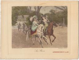 Armenonville - Nord - Menu - 18 Avril 1911 - Au Bois - Graveur : Franck Lefort - Menus