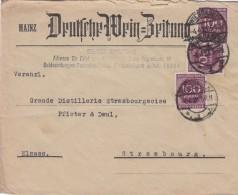 LETTRE 1923 REICH. INFLA. Mi 268 MeF. WIESBADEN POUR STRASBOURG.   / 6647 - Lettres & Documents