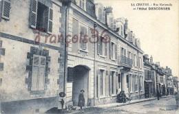 (36) La Chatre - Rue Nationale Et L´Hôtel Descosses - 2 SCANS - La Chatre