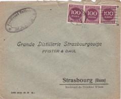 LETTRE 1923 REICH. INFLA. Mi 268 MeF. FERDINAND NATHAN. MAINS. WIESBADEN POUR STRASBOURG.   / 6648 - Deutschland