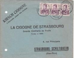 LETTRE 1949 SAAR. Mi 245 MeF. SAARBRUCKEN POUR STRASBOURG.   / 6649 - Zone Française
