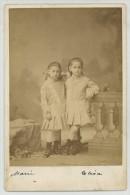 Cabinet 1878 Garreaud à Valparaiso (Chili). Deux Soeurs, Marie Et Elisa De Huidoho. - Photos