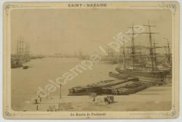 Cabinet Circa 1890 Neurdein. Saint-Nazaire. Le Bassin De Penhouët. - Old (before 1900)