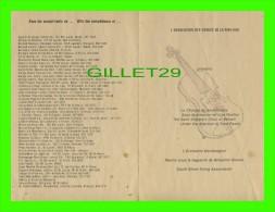 """PROGRAMMES - PROGRAM - L'ASSOCIATION DES CORDES DE LA RIVE-SUD PRÉSENTE """"LA CHORALE DE SAINT-HILAIRE"""" - Programmes"""