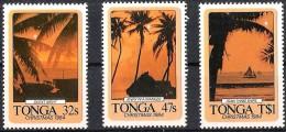 Tonga 1984 Yvertn° 586-88 *** MNH  Cote 38 FF  Noël Christmas Kerstmis - Tonga (1970-...)