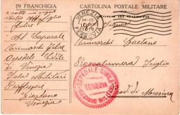 Franchigia Dall´OSPEDALE CIVILE SEZIONE MILITARE Di VENEZIA Per ROCCALUMERA SCIGLIO (MESSINA) (RL1668) - Guerra 1914-18