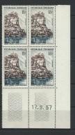 """Coins Datés YT 1127 """" Beynac-Cazenac """" Neuf** Du 17.9.57 - 1950-1959"""