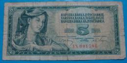 YUGOSLAVIA 5 Dinara 1968, VG+, PICK-81a,RARE, BAROCK SERIAL. - Yugoslavia