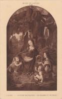 Cpa Musée Du Louvre La Vierge Aux Rochers - Arts