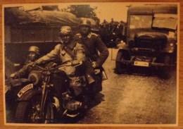 MILITARIA PHOTO GUERRE 39/45 TROUPE ALLEMANDE MOTO CAMION TAMPON OSTFRENT 1942 LUFTWAFFENKOMMANDO  3 - War, Military