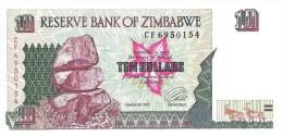 Zimbabwe - Pick 6 - 10 Dollars 1997 - Unc - Zimbabwe