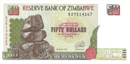 Zimbabwe - Pick 8 - 50 Dollars 1994 - Unc - Zimbabwe