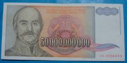 YUGOSLAVIA 50,000,000,000 DINARA 1993, XF - AUNC, RARE, PICK-.136 - Jugoslavia