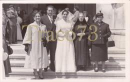 "POMPEI _ 26.04.1954 /  Sposi In Posa - Cartolina Fotografica _ Ediz. "" FONTANA Sabato "" - Nozze"