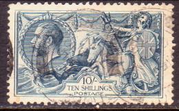 GREAT BRITAIN 1919 SG #417 10sh Used CV £175 Printed By Bradbury, Wilkinson & Co. Ltd CDS! - 1902-1951 (Kings)