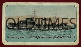 """PORTUGAL - CONTRA TORPEDEIRO """"VOUGA"""" - DONATIVOS PARA OS TUBERCULOSOS DA ARMADA - 1933 ALUMINIUM CALENDAR - Calendars"""