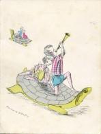 Illutrateur : Francoise Estachy - Tortue - Faire-part