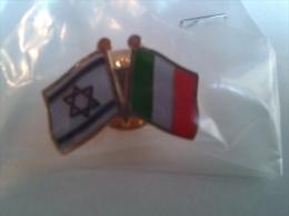Pin003B Pins Bandiere Amicizia Israele Italia Flag Friendship Israel Italy Drapeau Amitié Israel Italie Expo Milano 2015 - Pin
