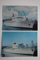 """OLD USSR PC - Motor Ship - Postcard Dizel-elektrokhod """"Vazlav Vorovsky"""", Maria Ermolova""""  1977 Stationery - Schiffe"""