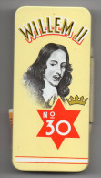 "Etui à Cigares Vide -boite Métallique (tôle) ""WILLEM II  N° 30"" (10 Cigares )-vente En France SEITA - Contenitore Di Sigari"