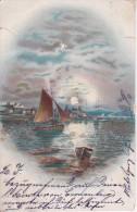 AK Segelboote Am Meer - Künstlerkarte Mit Glitter - 1901 (20459) - Ansichtskarten