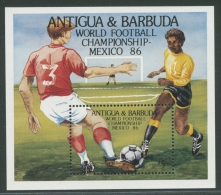 Antigua 1986 Fußball-WM Mexiko Block 106 Postfrisch (C21916) - Antigua Und Barbuda (1981-...)