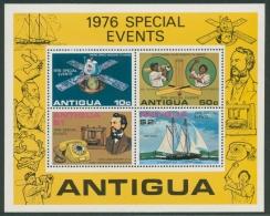 Antigua 1976 Jahresereignisse Block 27 Postfrisch (C21913) - Antigua Und Barbuda (1981-...)