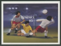 Dominica 1986 Fußball-WM Mexiko Block 106 Postfrisch (C21931) - Dominica (1978-...)