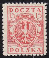 POLAND - Scott #97 Eagle / Mint NH Stamp - ....-1919 Overgangsregering