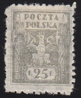 POLAND - Scott #100 Fasces / Mint H Stamp - ....-1919 Provisional Government