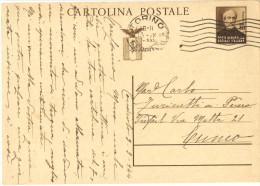 06) R.S.I. INTERO POSTALE MAZZINI DA 30 C. 1944 VIAGGIATO - 4. 1944-45 Repubblica Sociale