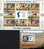 Fußball-Spiel 1990 Südkorea Gegen Nord-Korea 3139/0 9-KB+Block 259 O 11€ Bloque Hb Bloc Sport M/s Soccer Sheets Bf Corea