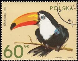 POLAND - Scott #1890 Ramphastos Toco (*) / Used Stamp - Parrots