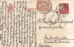 LD-1276       IVIBORG  1927  Via PORTOFINO  Naar Poste Restante (segnatesse 30 Centesimi) STA MARGHARITHA - Postal Stationery